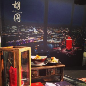 The stall gave a taste of the Hutong experience