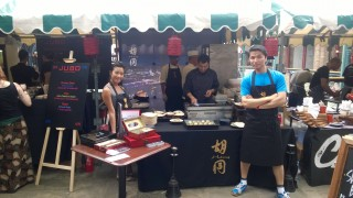 The team on the Hutong pop-up stall at FEAST