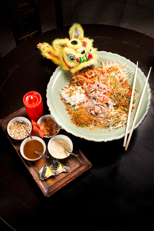 Lo Hei or 'Toss Up' Salad - on the menu from 30th January until 14th February
