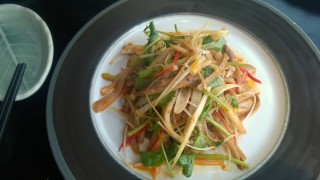 Spicy abalone & cuttlefish salad