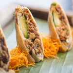 Crispy peking duck rolls