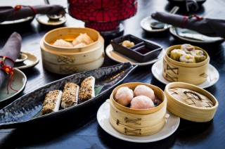 The full dim sum menu is available at lunchtime at Hutong