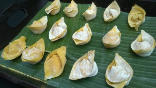 Freshly-made wontons ready for poaching at FEAST