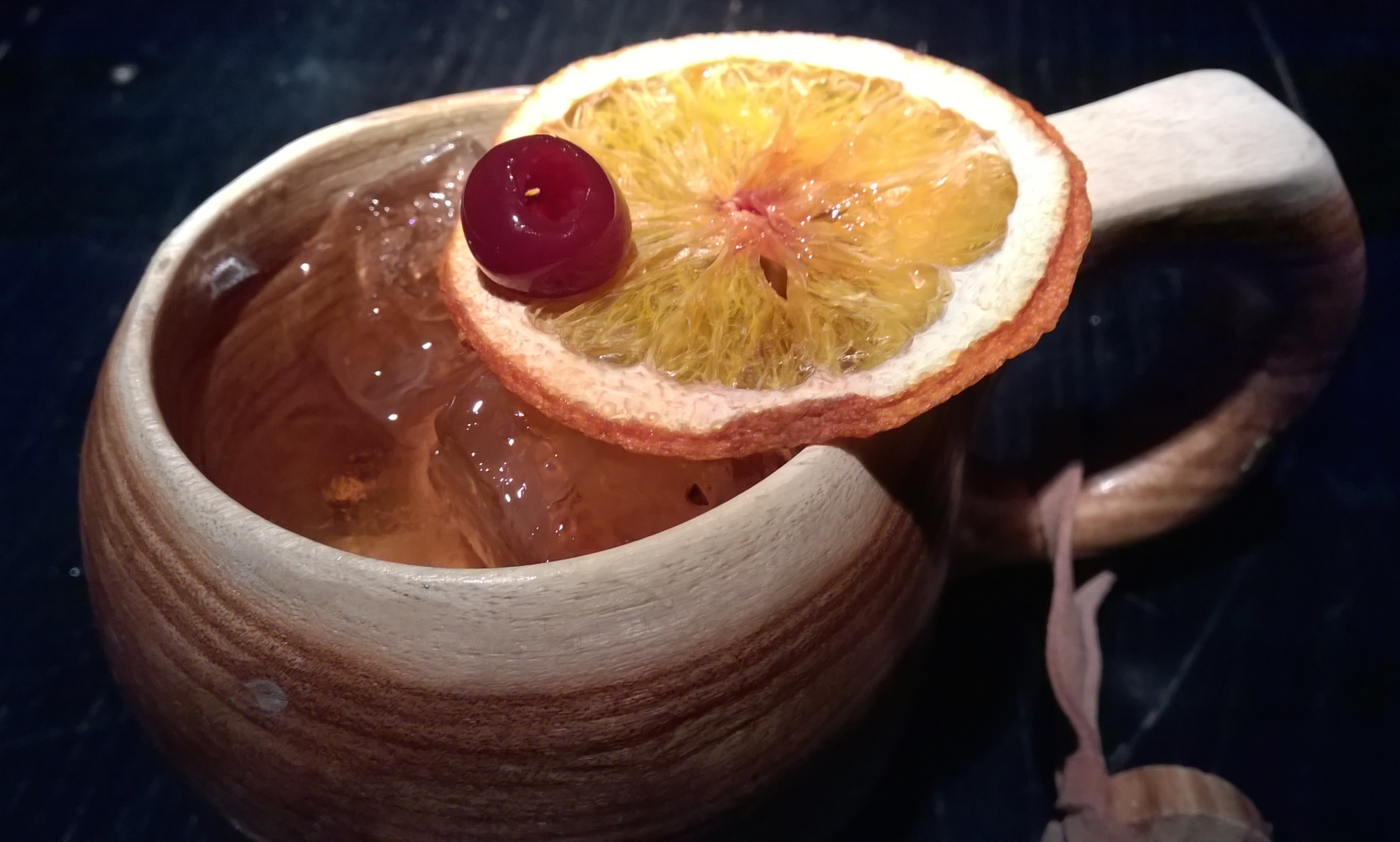 Our 'Ancient Fashioned' cocktail