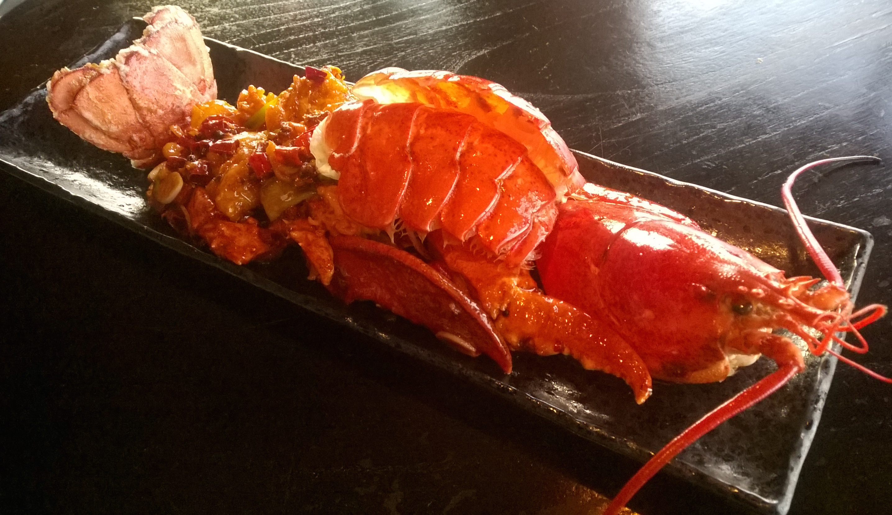 Kung Po-style whole lobster