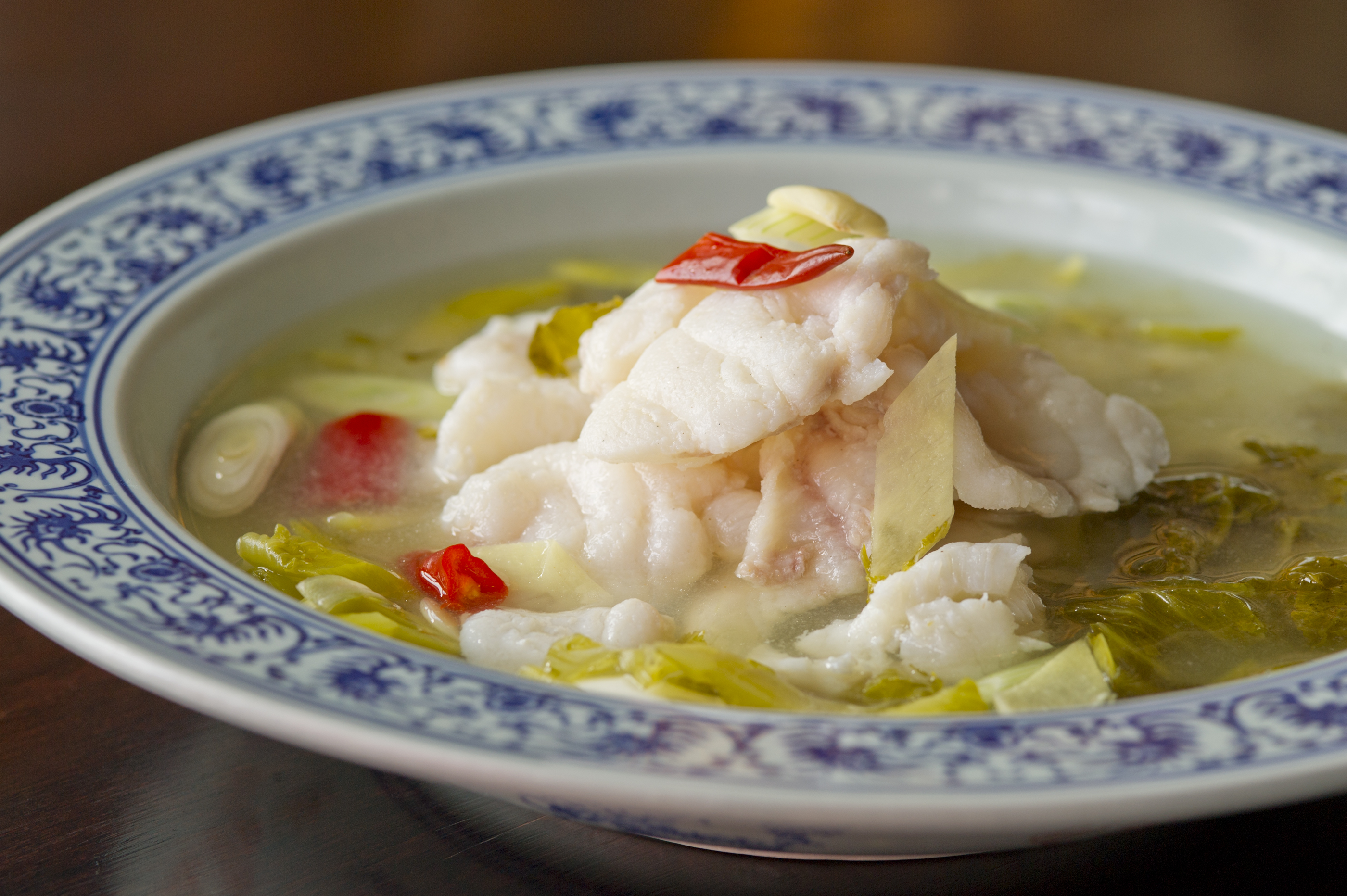 Hutong Monkfish fillet in sour broth